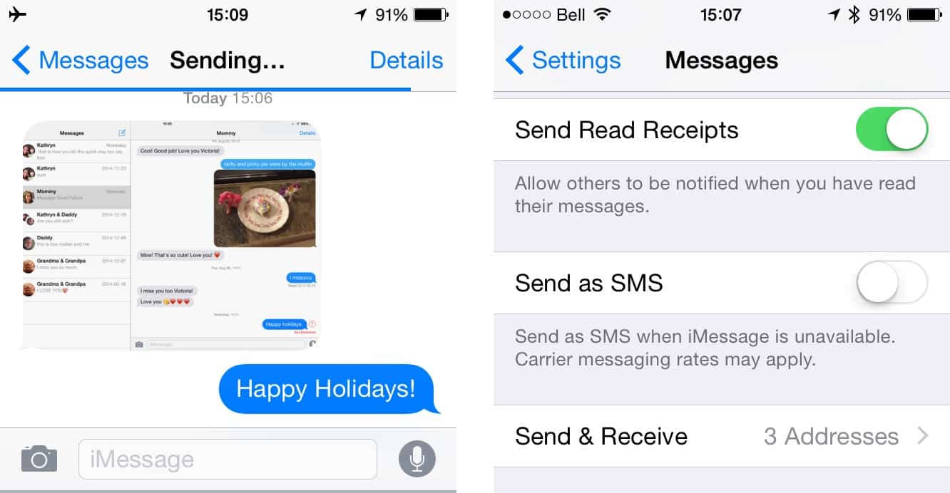 possible to 'unsend' or 'cancel' sent iMessages?