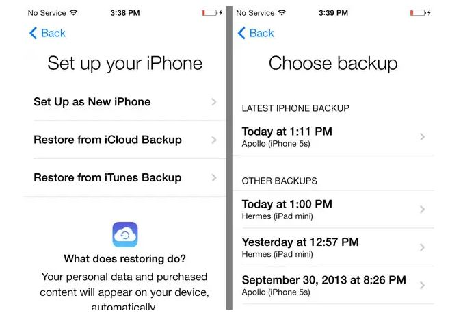 Using an iCloud Backup to Restore Text Messages