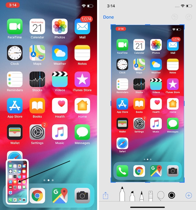 On the iPhone 12 and iPhone 12 Pro, how to takea screenshot