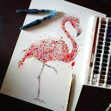 Animal Dot Painting with Multicolored dots