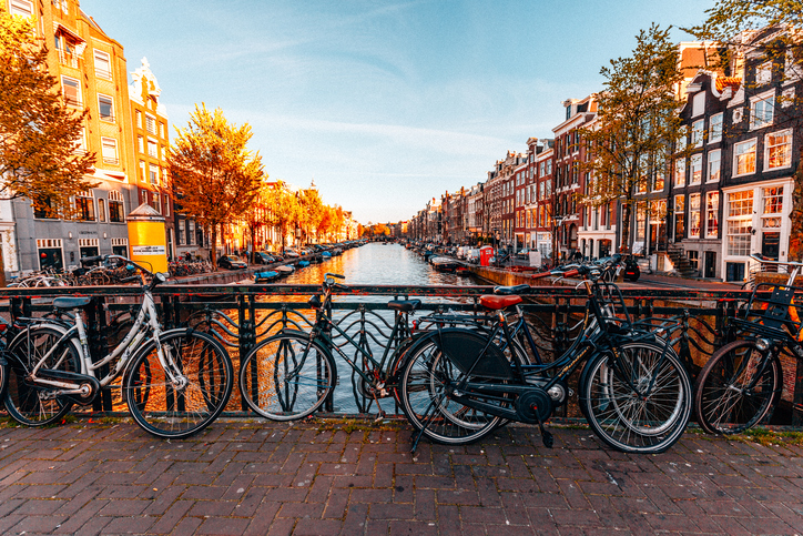 [Ans] What city is famous for having more bicycles on the road than cars?