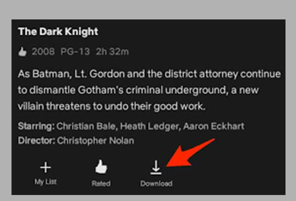 Step 3 Click to download netflix video